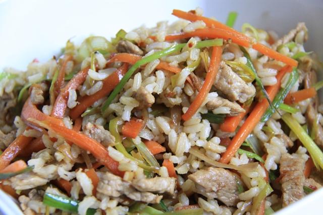 Коричневый(бурый) рис с телятиной и овощами!