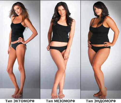 Разница типов фигур женщин в фитнес-тренинге и питании.