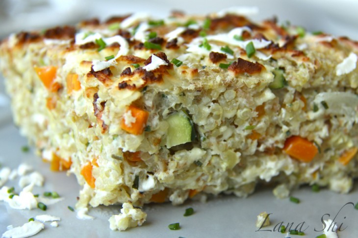 Вегетарианский высокопротеиновый пирог из квиноа! И 302 ккал. в одной порции ☺