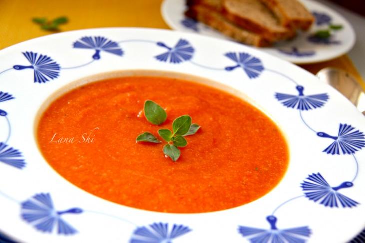 Томатно-тыквенный суп и 122,5 ккал в 1 порции!